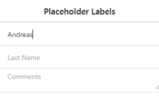 Placeholders in Html/JSF