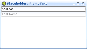 Placeholder / Promt Text in Ulc TextField