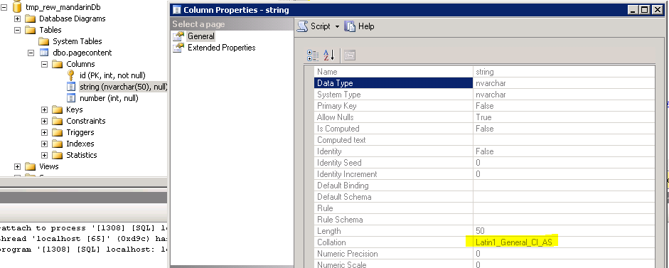 How to store mandarin chinese text into a MsSql database - Axon ivy