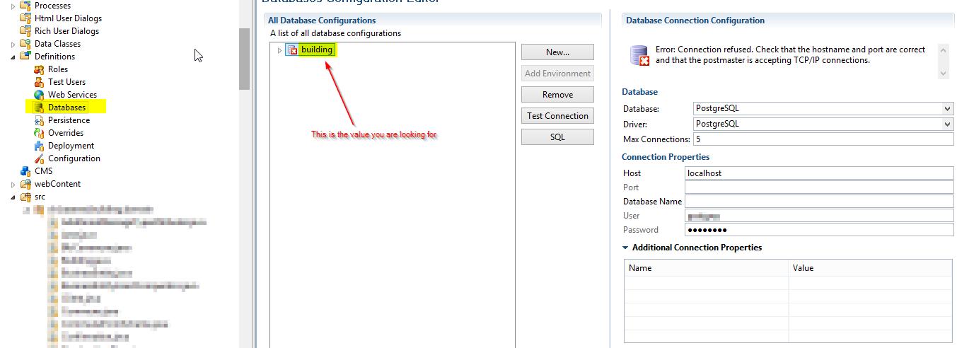 Database Config