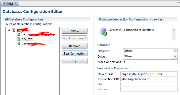 DB Editor with repacked HSQLDB