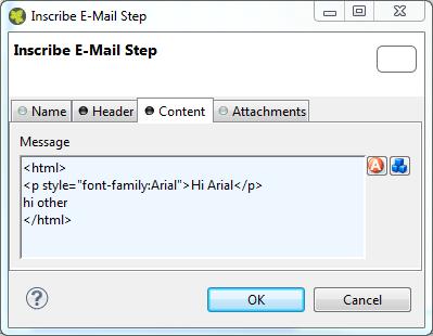 mailcontent inscription