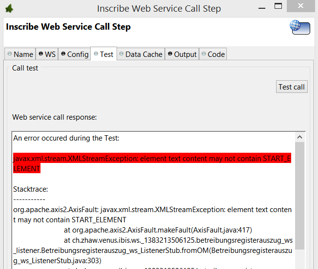 XMLStreamException while calling a SOAP webservice - Axon ivy   Q&A