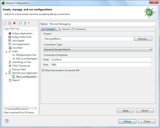 Launch configuration for Remote Java Application Debugging